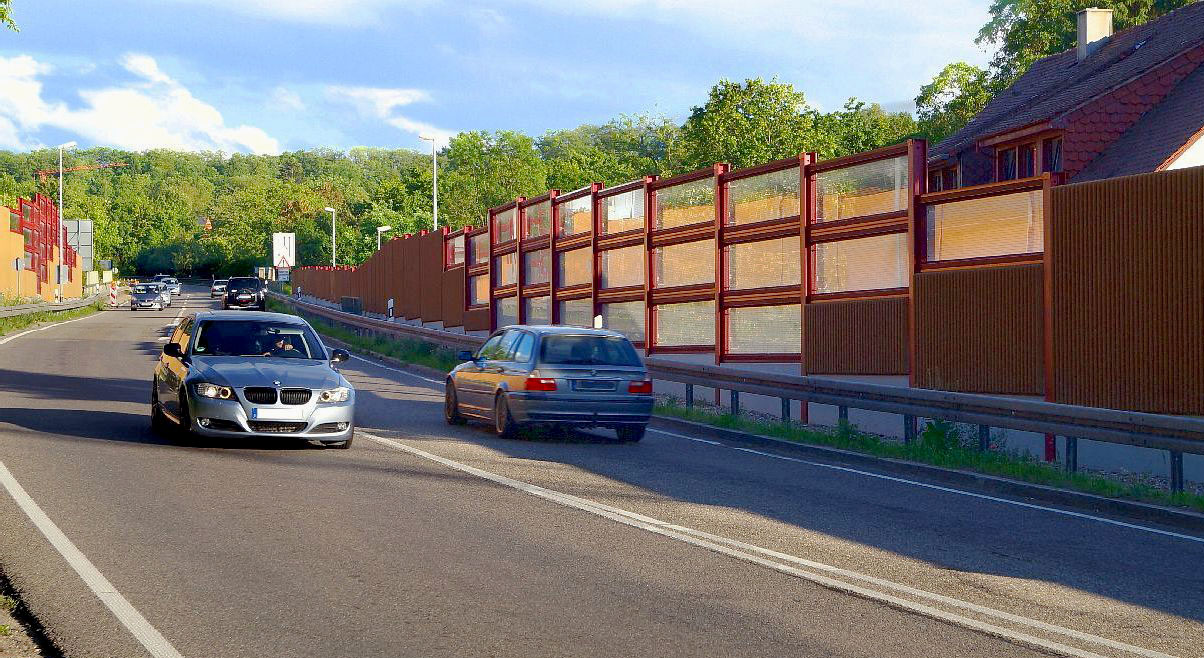 Noise Barrier Bruchsal Germany Invisible Noise Barriers From The Specialist Noise
