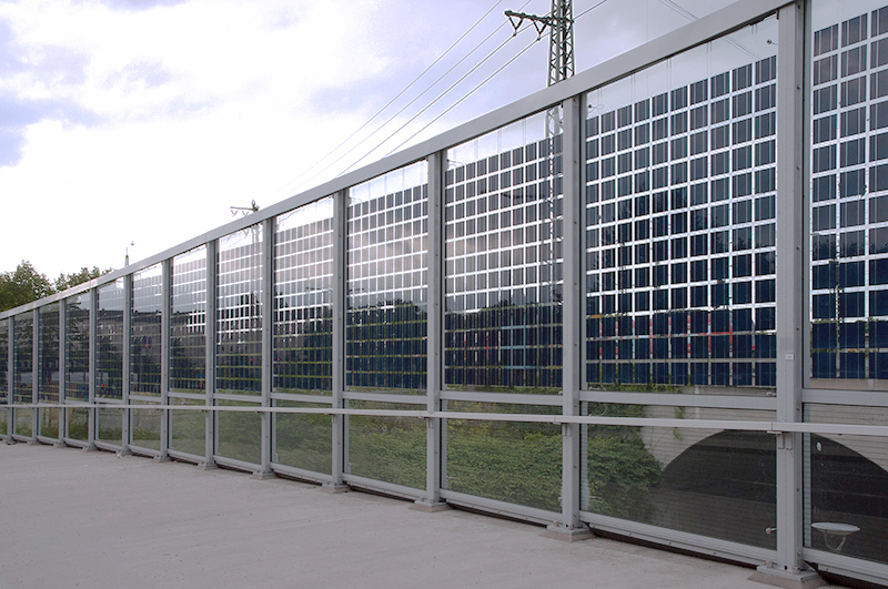 Photovoltaic Noise Barrier In Munich Noise Barriers And Noise Protection Wall Of Kohlhauer