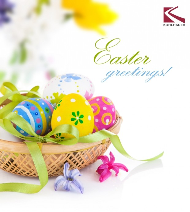 KOHLHAUER WISHES HAPPY EASTER!