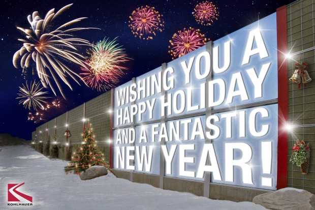 KOHLHAUER wishes happy holidays and a fantastic new year