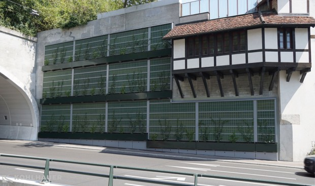 Ecological noise barrier (Kanton CH-Aargau/Stadt CH-Baden)