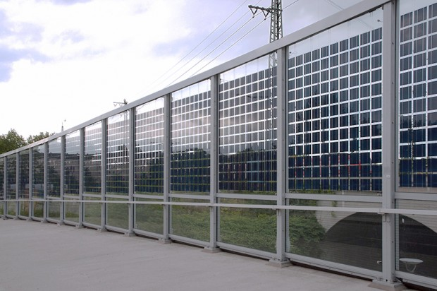 Photovoltaic Noise Barrier In Munich Noise Barriers And